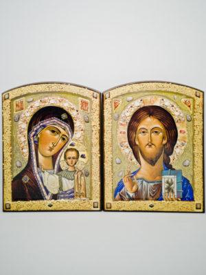 Пара венчальная Казанская Богородица с декоративной росписью
