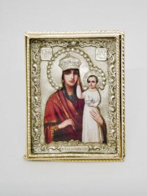 Икона Богородицы Призри на Смирение серебро позолота