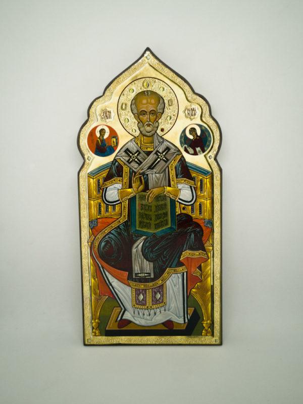 Икона святого Николая Чудотворца фигурная