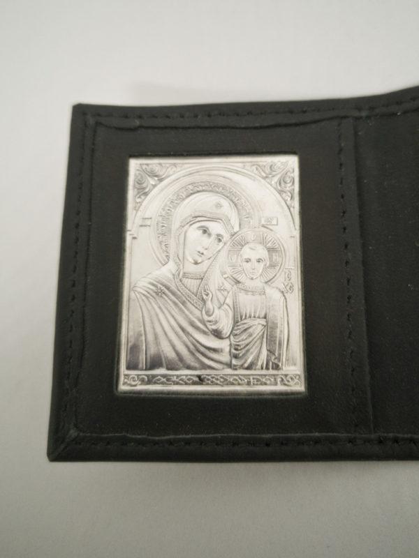 Серебрянная икона Богородица
