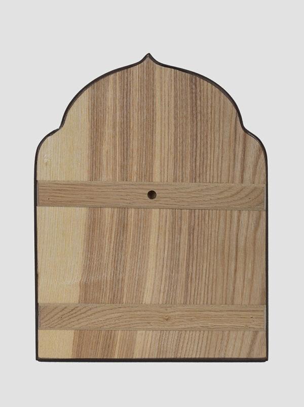 Феодоровская икона Божией Матери фигурная с декоративной росписью задняя стенка