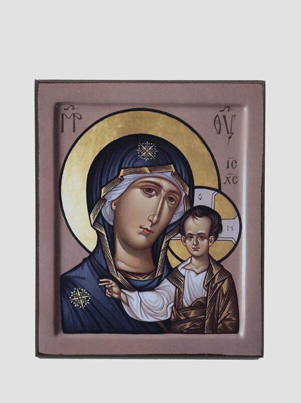 Казанская икона Богородицы голубое одеяние автор Шешуков
