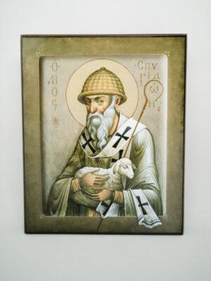 Икона Спиридон Тримифунтский с овечкой