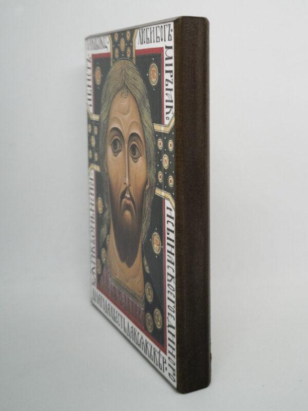 Икона Спас Златые Власы с надписями боковина