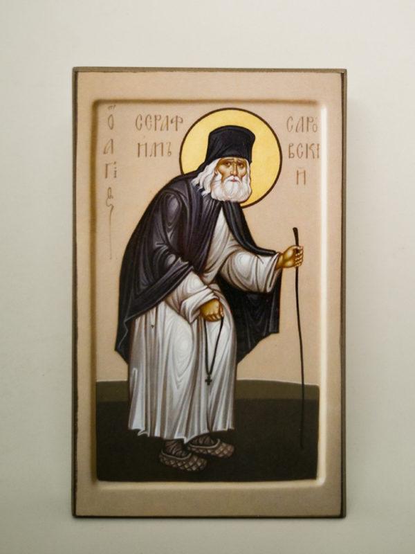 Икона прп Серафима Саровского Шешуков