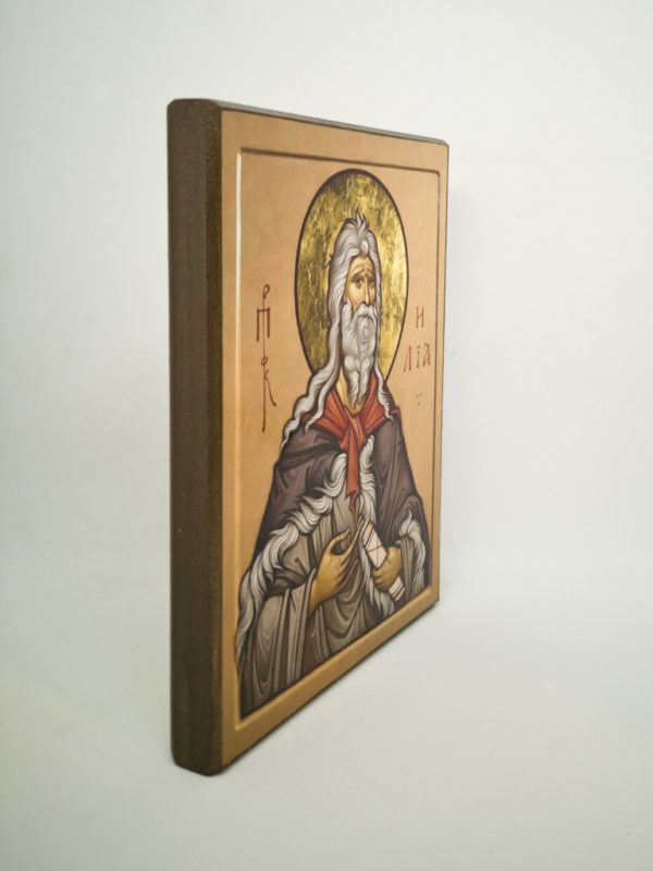 Икона Пророк Илья Шешуков боковина