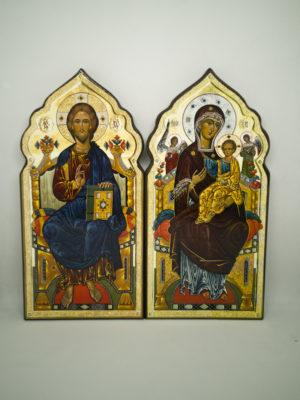 Венчальная пара с иконой Богородицы Всецарица