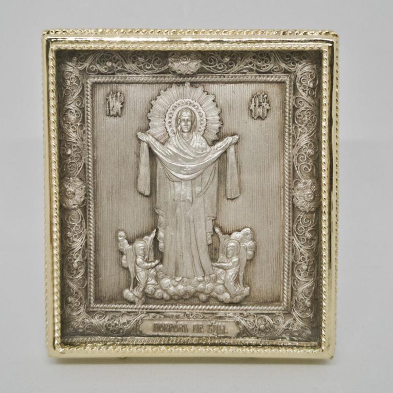 Иконы с серебром и позолотой