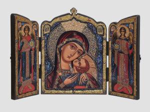 Складень: Касперовская икона Божией Матери с крестом, Арх.Михаил, Арх.Гавриил (С.Вандаловский)