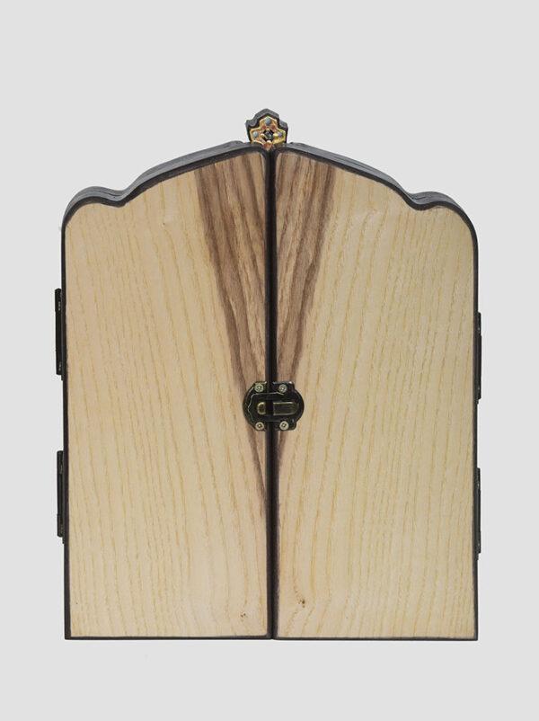 Складень: Касперовская икона Божией Матери с крестом, Арх.Михаил, Арх.Гавриил (С.Вандаловский) сложенный