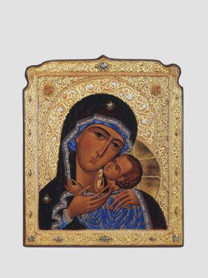 Касперовская икона Божией Матери с декоративной росписью Сергея Вандаловского