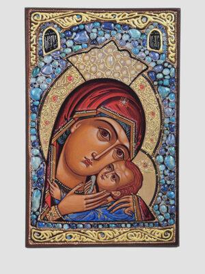 Касперовская икона Божией Матери голубые камни Сергея Вандаловского