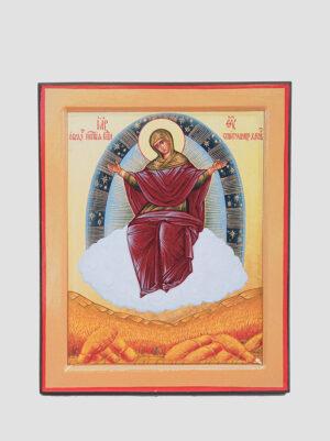 """""""Спорительница хлебов"""" икона Божией Матери (желтая)"""
