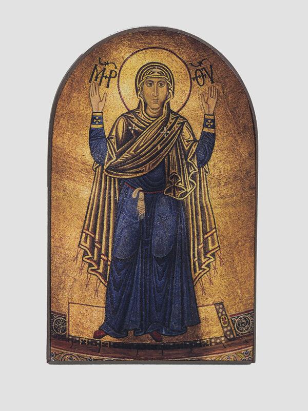 Икона Богоматерь Оранта, копия мозаичной иконы Божией Матери «Нерушимая стена»
