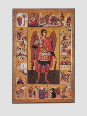 Архангел Михаил (икона с клеймами)