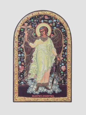 Ангел Хранитель (арочная икона с декоративной росписью)
