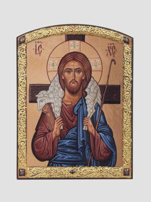 """Икона """"Пастырь Добрый"""" с декоративной росписью (С.Вандаловский)"""