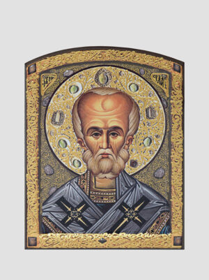 Св. Николай Чудотворец с декоративной росписью
