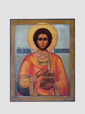 Св. Пантелеимон Целитель (поясная икона)