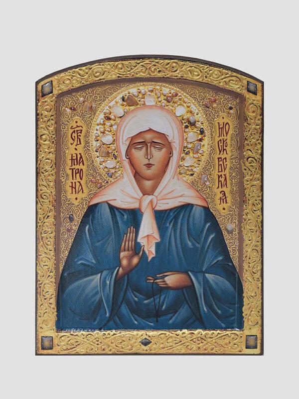 Св. Матрона Московская (икона с ручной росписью)
