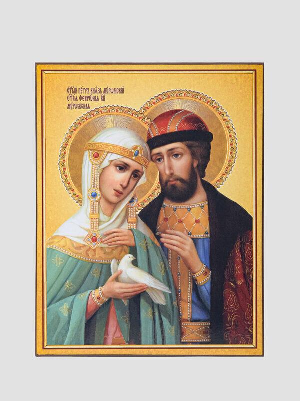 Свв. Петр и Феврония с голубем