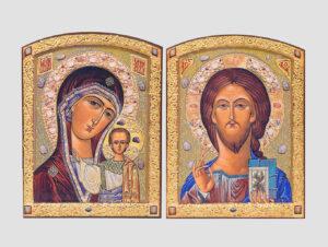 Пара венчальная с Казанской иконой Богородицы (С.Вандаловский)