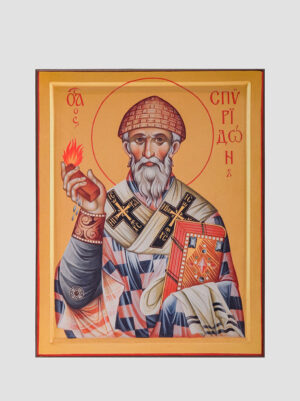 Св. Спиридон Тримифунтский (поясная икона)