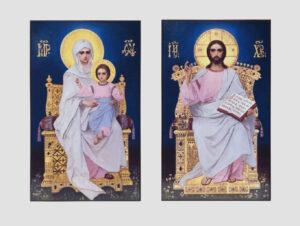 Пара венчальная с иконой Божией Матери с Младенцем (иконостас Трапезного храма, Киево-Печерская лавра)