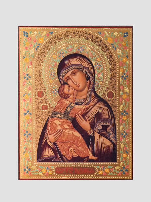 Пара венчальная с Владимирской иконой Божией Матери декорированная Богородица