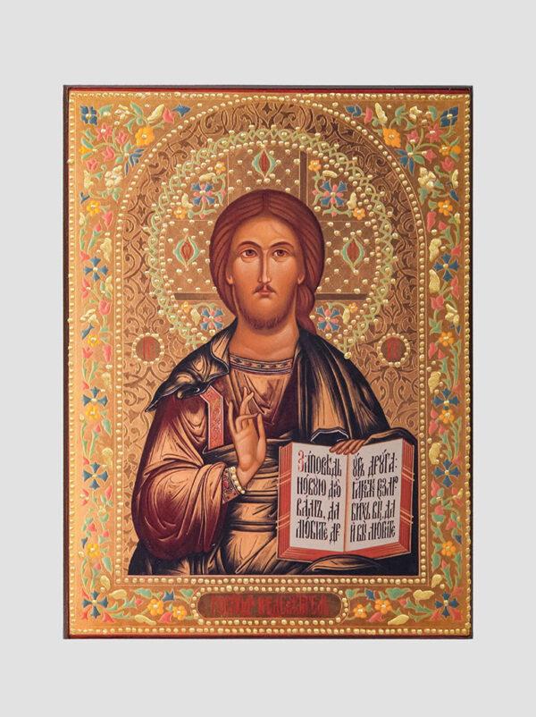 Пара венчальная с Владимирской иконой Божией Матери декорированная Иисус Христос
