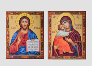 Пара венчальная с Владимирской иконой Божией Матери