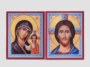 Пара венчальная с Казанской иконой Божией Матери