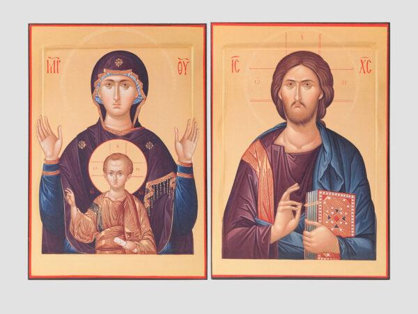 """Пара венчальная с иконой Божией Матери """"Знамение"""""""