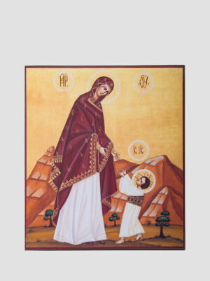 """""""Первые шаги Христа"""" икона Божией Матери"""