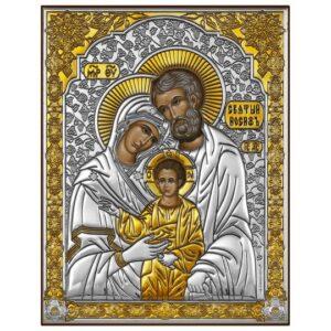 Святое Семейство (икона серебряная)