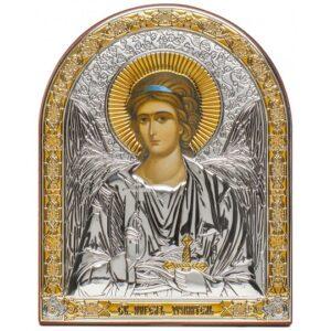 Ангел Хранитель (икона серебряная, арочная)