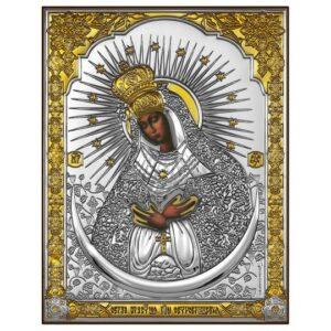 Остробрамская Богородица (икона серебряная)