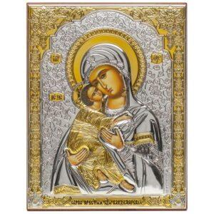 Владимирская Богородица (икона серебряная)