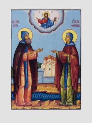 Свв. Петр и Феврония (ростовая икона)