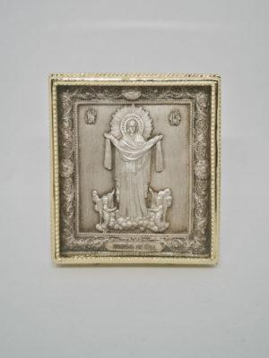 Мідна ікона Покров Пресвятої Богородиці