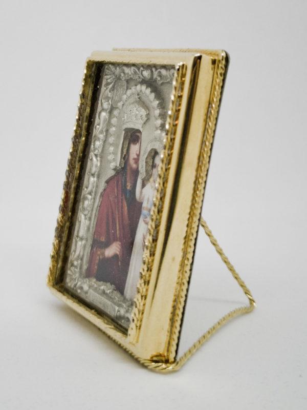 Ікона Богородиці Зглянься на Смирення срібло позолота боковина