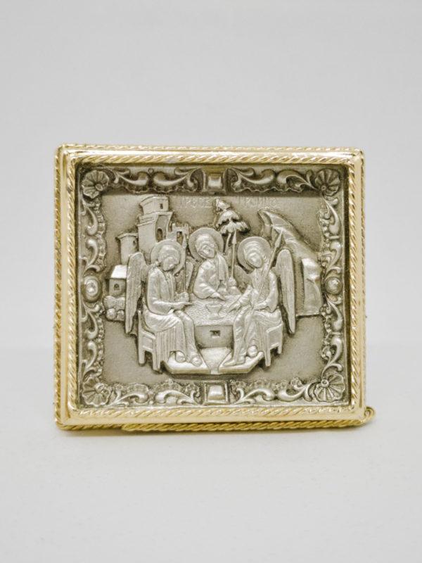 Ікона Свята Трійця срібро та позолота