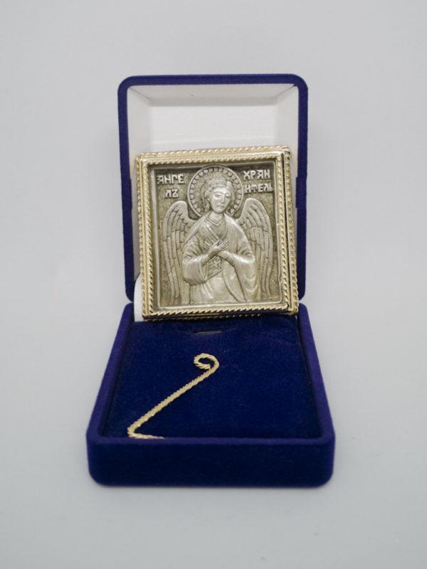 Ікона Ангел Охоронець позолота поясна футляр