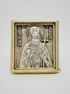 Ікона Лука Кримський зі срібленням і позолотою