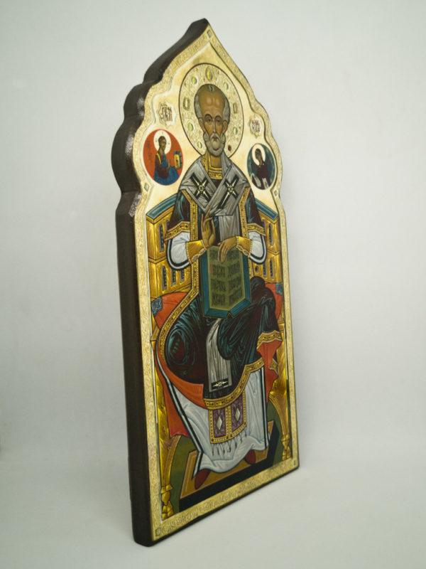 Ікона святого Миколая Чудотворця фігурна, боковина