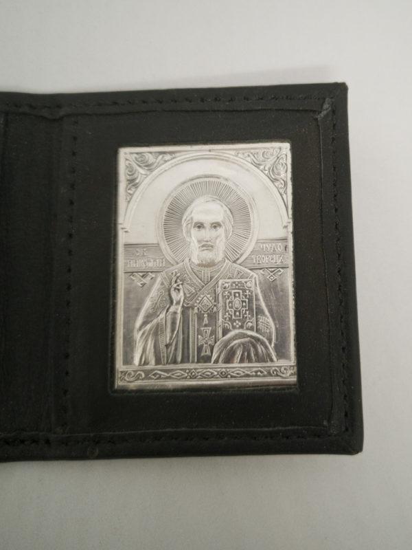 Ікона срібна святий Миколай