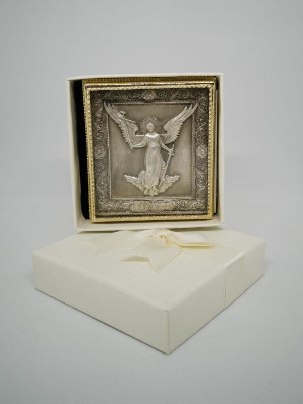 Ікона мідна Ангела Охоронець ростова з футляром