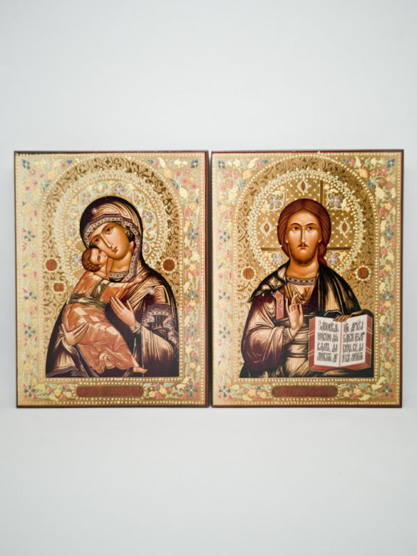 Пара вінчальна Володимирська Богородиця декорована