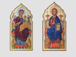"""Пара вінчальна з іконою Божої Матері """"Всецариця"""" (С.Вандаловський)"""