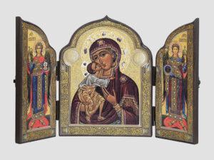 Складень: Федорівська ікона Божої Матері, Арх.Михаїл, Арх.Гавриїл (С.Вандаловський)